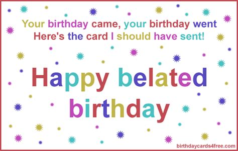 Free Belated Birthday Cards Belated Birthday Clipart Clipartsgram Com