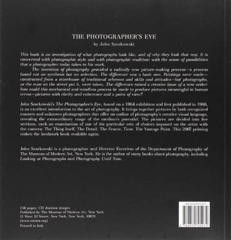 libro the photographers eye remastered libro the photographer s eye di john szarkowski