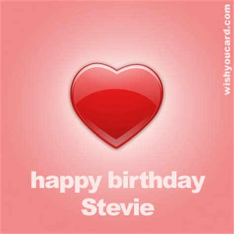 Stevie Birthday Card Happy Birthday Stevie Free E Cards