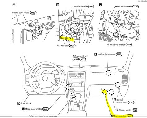 blower resistor location where is the heater fan resistor located on a 2000 nissan maxima located and how do you access it