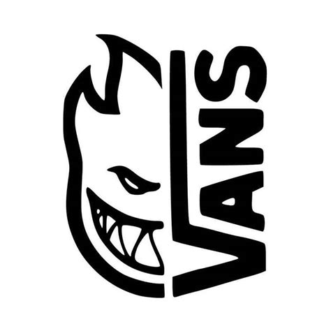 Vans Logo White vans x spitfire logo vinyl decal sticker