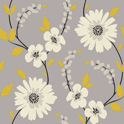 yellow floral wallpaper for walls stansie grey yellow wallpaper