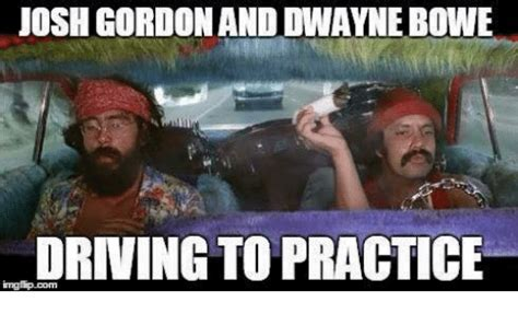 Josh Gordon Meme - josh gordon and dwayne bowe driving to practice driving