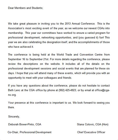 Invitation Letter To Attend Conference 13 conference invitation templates free word documents free premium templates