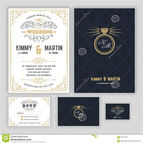 creative wedding card templates creative wedding invitations with flourish and twirls