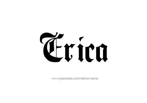 Tattoo Name Erica | erica name tattoo designs