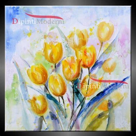 quadri con fiori quadri moderni contemporanei con fiori gialli quadri