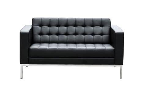 Como Two Seater Black Leather Reception Sofa Ioffice Leather Reception Sofa
