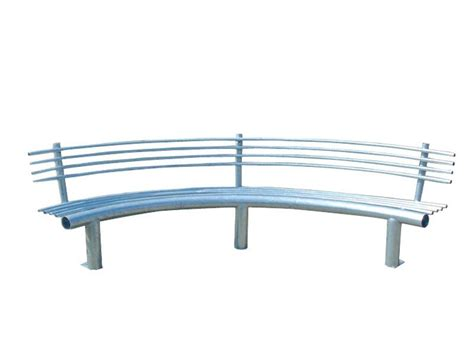 curved metal bench curved metal bench with back curva by lazzari