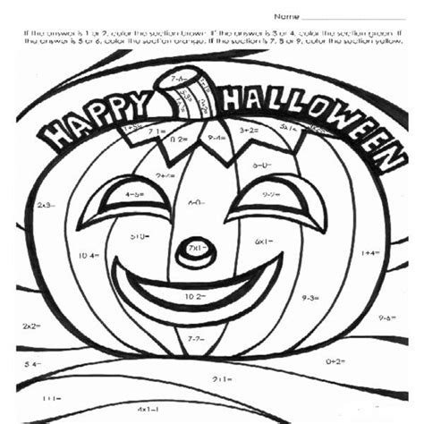 halloween coloring pages math 16 best images of halloween math multiplication coloring