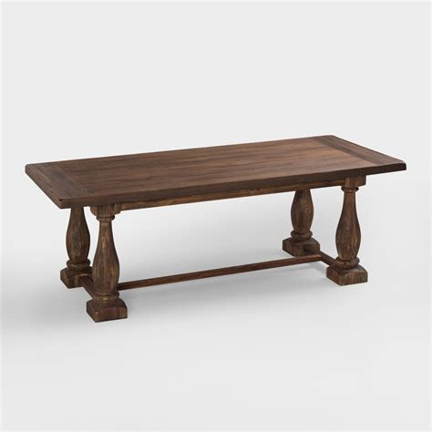 Rustic Java Greyson Fixed Dining Table World Market