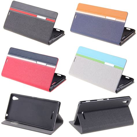 Flipcase Sony Experia T3 D5103 Flip Cover Leather Softcase bookstyle wallet leather flip skin cover for sony xperia t3 d5103 d5106 in phone bags