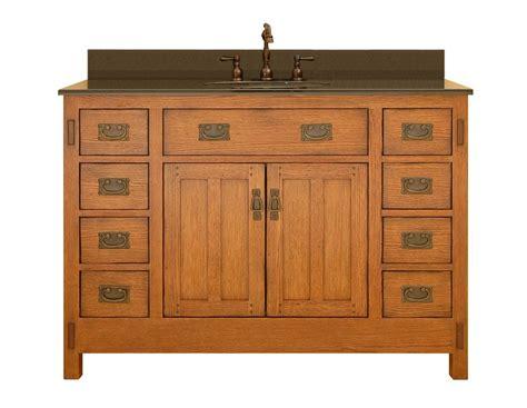 Oak Vanity Cabinets by Sagehill Designs Ac4821d Rustic Oak American Craftsman 48