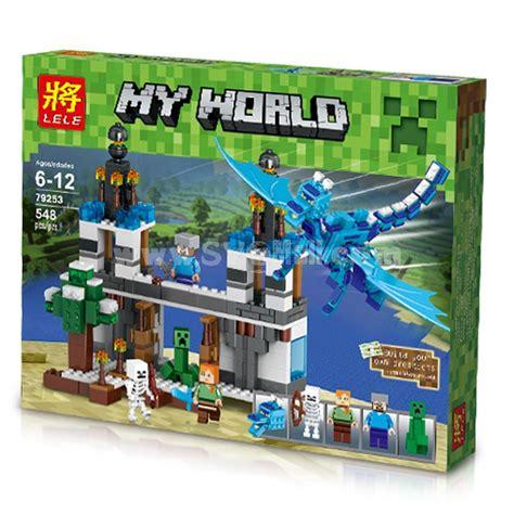 Blocks Playset Blue Minecraft My World Block Mini Figure Toys Compatible With