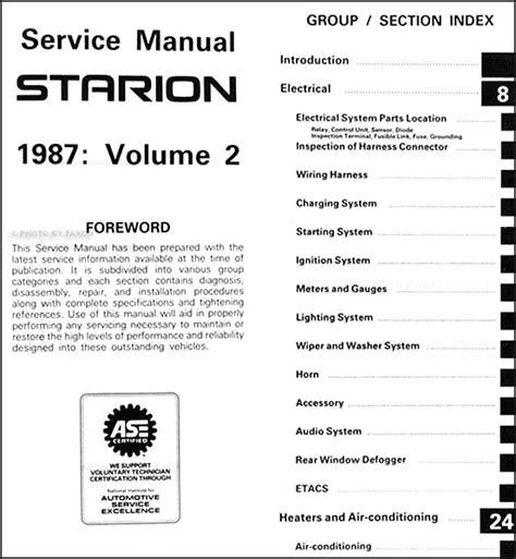 car repair manuals online pdf 1987 mitsubishi galant on board diagnostic system service manual pdf 1987 mitsubishi starion service manual 1987 chrysler conquest mitsubishi