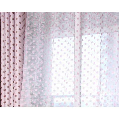 pink and white sheer curtains cute yarn pink white polka dot sheer curtains