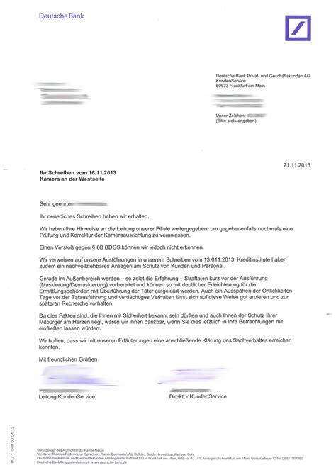 deutsche bank brief 252 berwachung der kreuzung engelbosteler damm