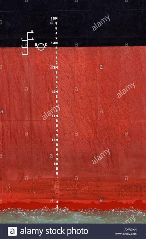 ship draft plimsoll line and draft draught marks and on the side of