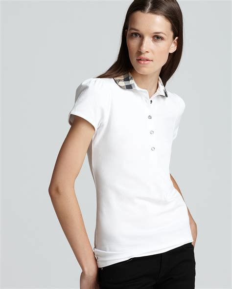 Burberry Home Decor by Burberry Brit Ruched Check Collar Polo Shirt Bloomingdale S