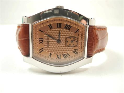 Special Promo Gucci Limited Edition Limited Edition limited edition ss gucci 7600 series mechanical wind wristwatch ebay