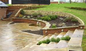 Landscaping Ideas For Sloping Gardens Patio Designs Ideas For Sloping Garden Landscaping Gardening Ideas