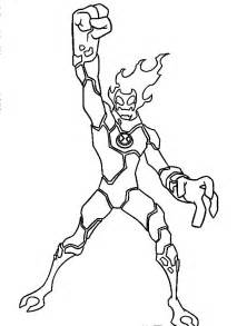 Ben 10 Heatblast Coloring Pages X3cbx3eben Pagesx3c/b  sketch template