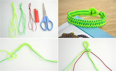 How To Make String - how to make neon string bracelet diy crafts handimania