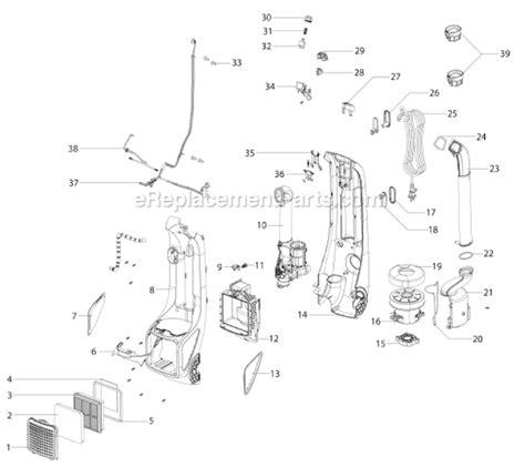 electrolux vacuum parts diagram electrolux el8802a parts list and diagram