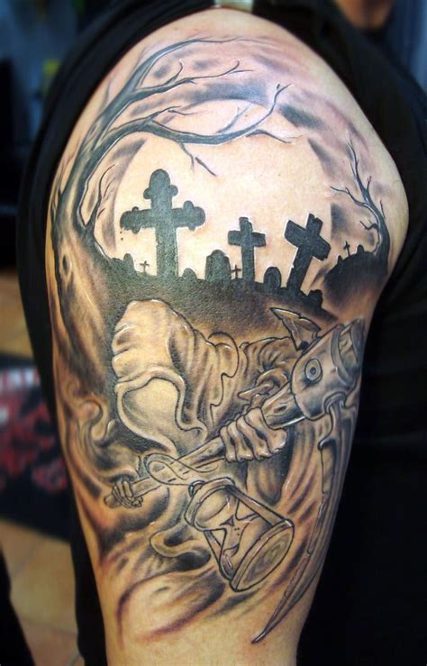 grim reaper tattoos pictures cool tattoos bonbaden