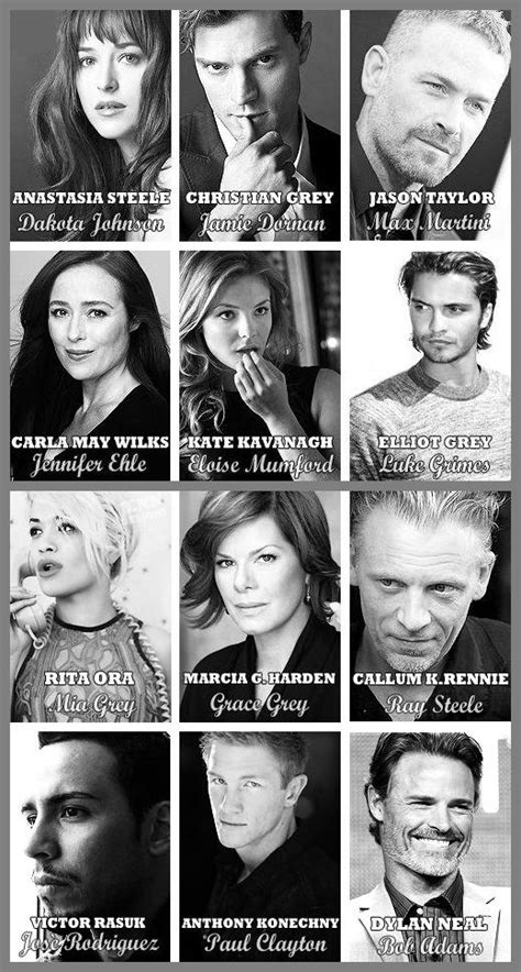 fifty shades darker film actors fifty shades official movie cast collage