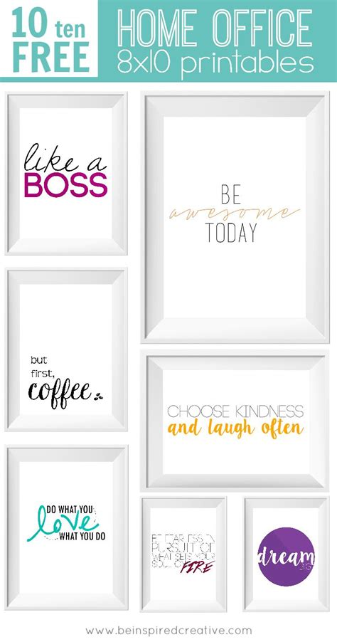 free printable office quotes free printable download 10 home office 8x10 printables to