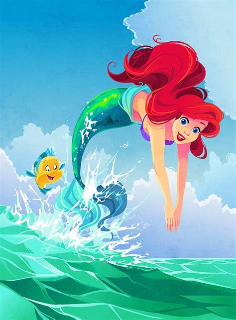 Ariel Illustration By Kuitsuku On Deviantart Mermaid Princess Drawings