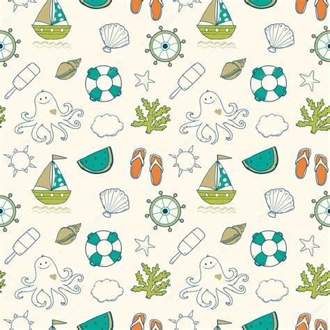 seamless pattern summer summer sea cute pattern seamless stock vector 169 lunter