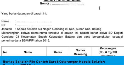 contoh format administrasi kepala sekolah terbaru info berkas sekolah file contoh surat keterangan kepala sekolah