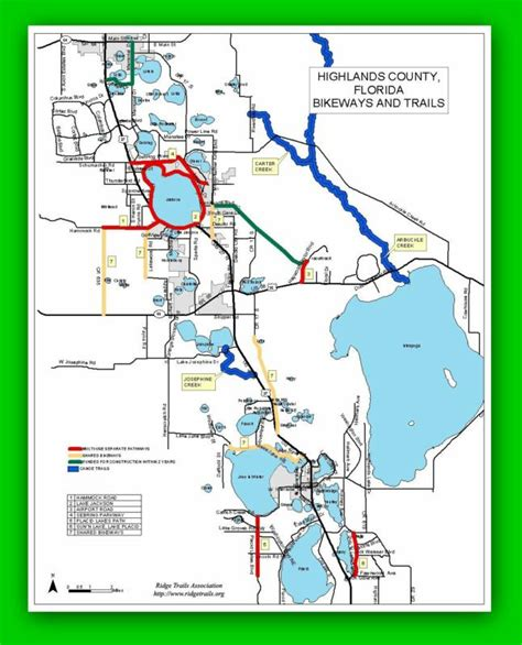 florida trail maps hiking biking and equestrian trails in highlands county
