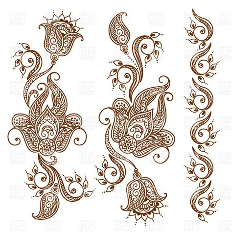 tattoo flower indian henna flower clipart makedes com