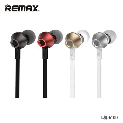 Remax Earphone With Microphone Volume For Iosandroid remax earphone with microphone volume rm 610d