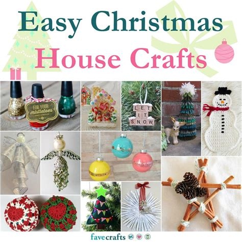 simple craft for christamas celebrationo 123 easy house crafts favecrafts
