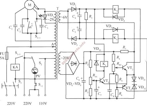 automatic voltage regulator circuit diagram ac circuit