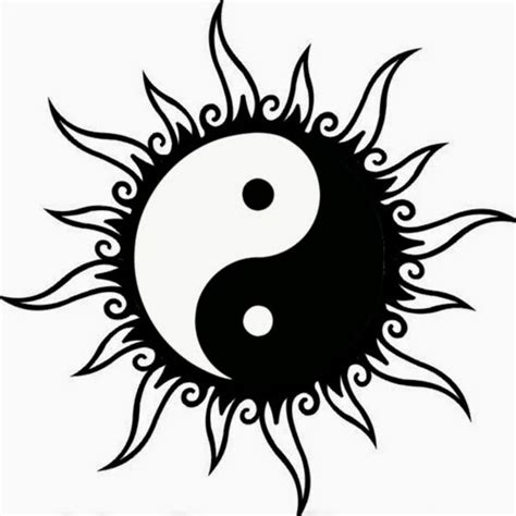 yin yang symbol tattoo design tribal yin yang design by forace