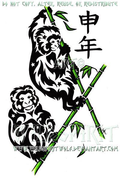 ninja monkey tattoo collection of 25 monkey drawing