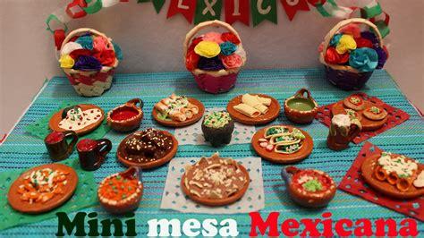 decorar mesa mexicana mini mesa mexicana comida miniatura mexicana porcelana