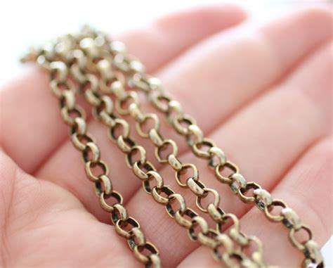 brass chain for jewelry 4 5mm brass rolo chain gold rolo chain brass chain antique