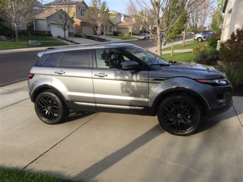 silver range rover black rims lightly used grey range rover evoque se with black