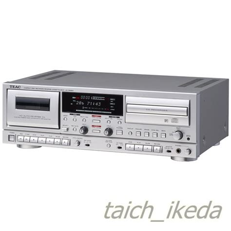 cd cassette recorder teac cd recorder cassette deck silver ad rw950 s from