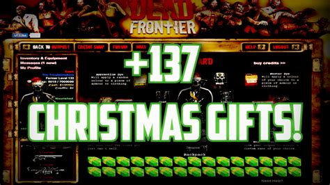 dead frontier 2016 abriendo 137 christmas gifts