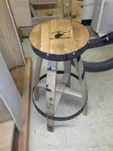 Whiskey Barrel Bar Stools by Whiskey Barrel Bar Stool 150 Black Creations
