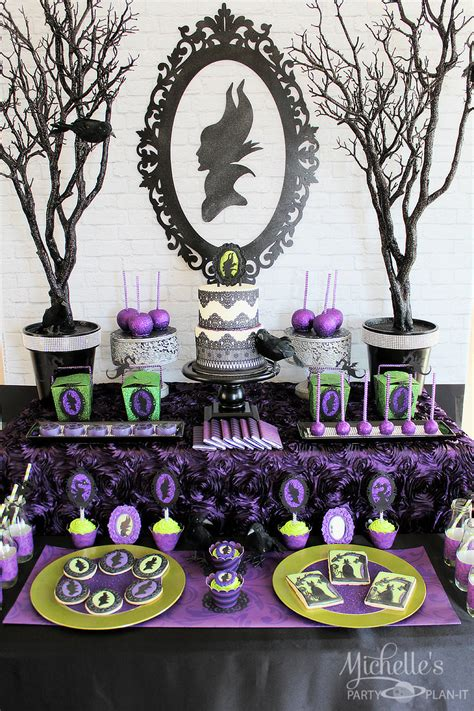 Halloween Crafts Treats - maleficent party ideas featuring creative purple and black decorations food and treats