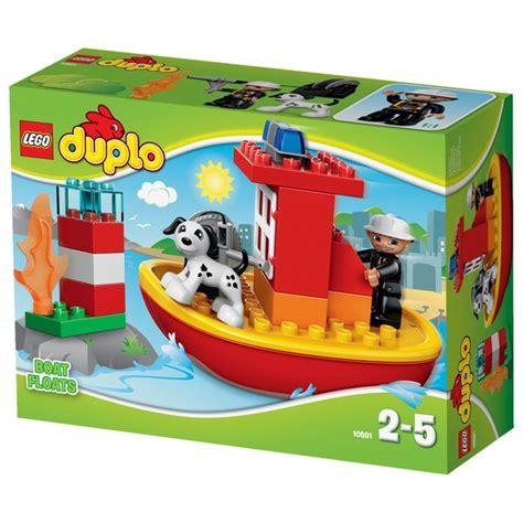 lego fire boat uk lego duplo town fire boat 10591 pop in a box uk