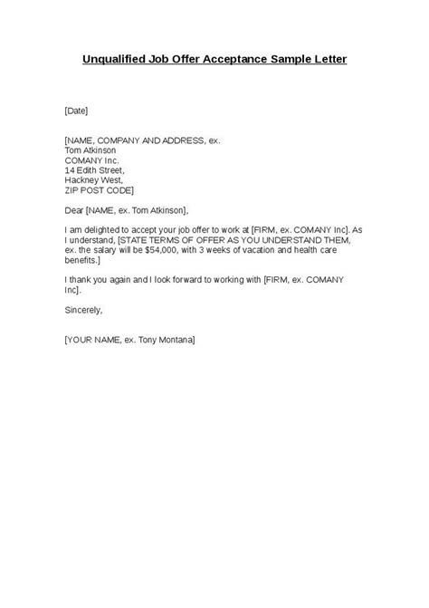 Offer Letter Acceptance Format Sle Letter For Rescinding An Accepted Offer Sle Business Letter